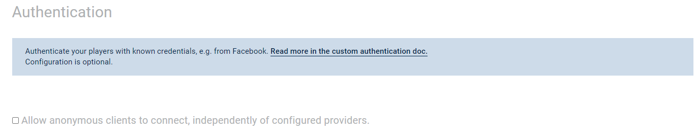 Photon Cloud: Custom Authentication, Allow Anonymous Clients