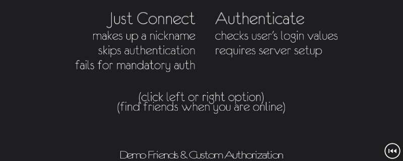PUN: Custom Authentication Demo
