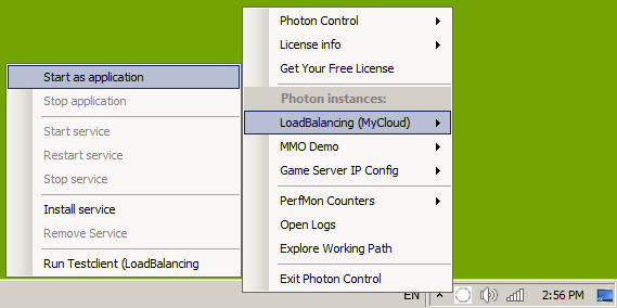 Photon Server Screenshot: Photon Control