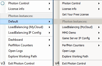 Photon Control changes from v3 to v4