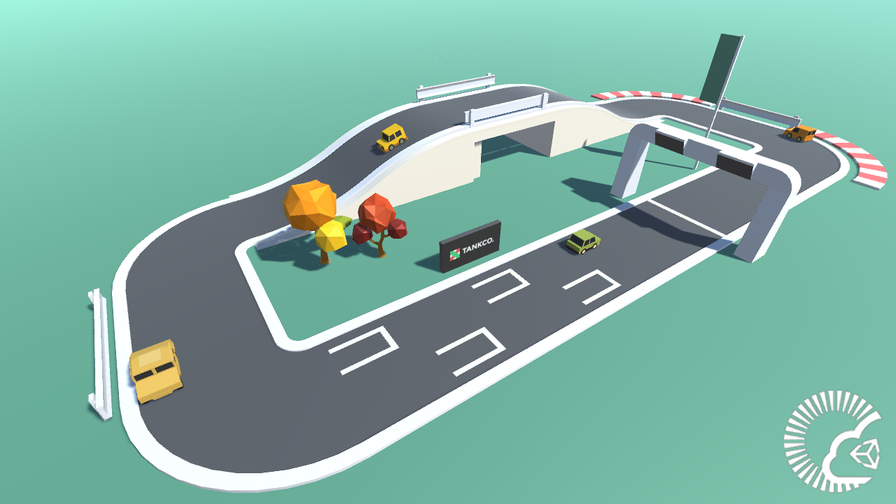 Screenshot of the Slot Racer demo