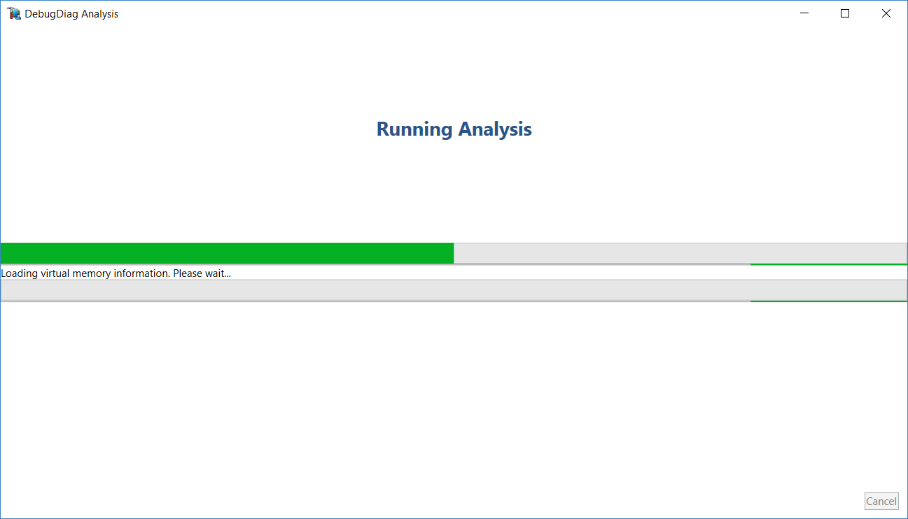 Loading Debug Diagnostic Analysis