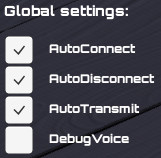 PUN Voice Demo Global Settings