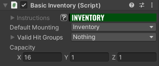 Basic Inventory Component