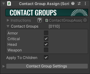 Contact Group Assign Component