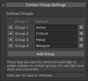 Contact Group Settings