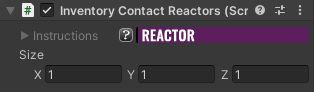 Inventory Contact Reactor Component