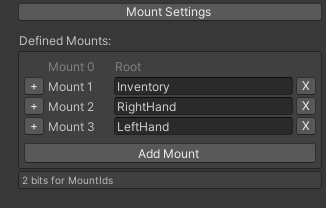 Mount Settings