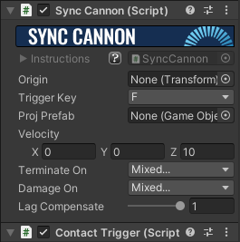 Sync Cannon Component