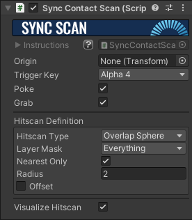 Sync Contact Scan Component